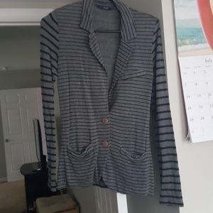 Gray and Navy Casual Dress Jacket Size Small